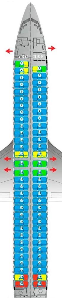 схема самолета Победа Boeing 737-800