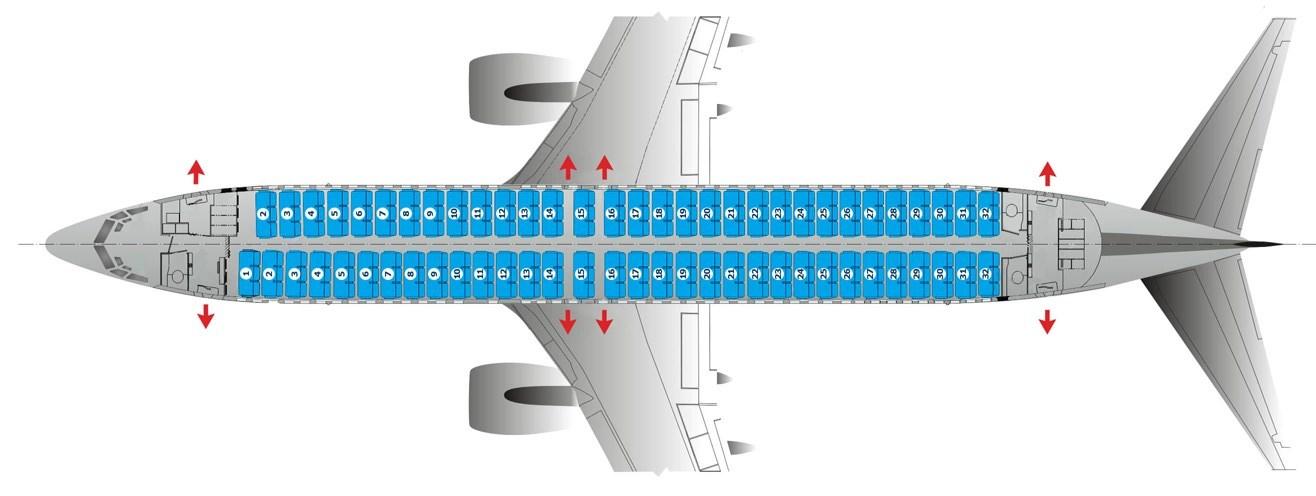 Выбор места в самолете Победа