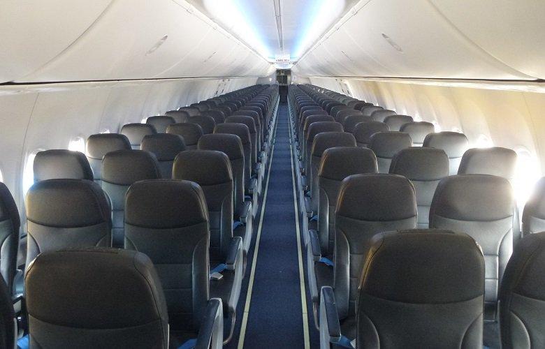 Салон самолета Победа