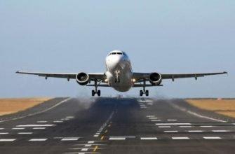 Самолет разгоняется при взлете