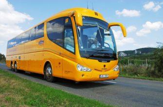 Поездка на автобусе по России