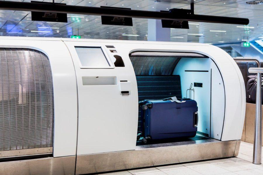 Self-service-baggage drop-off