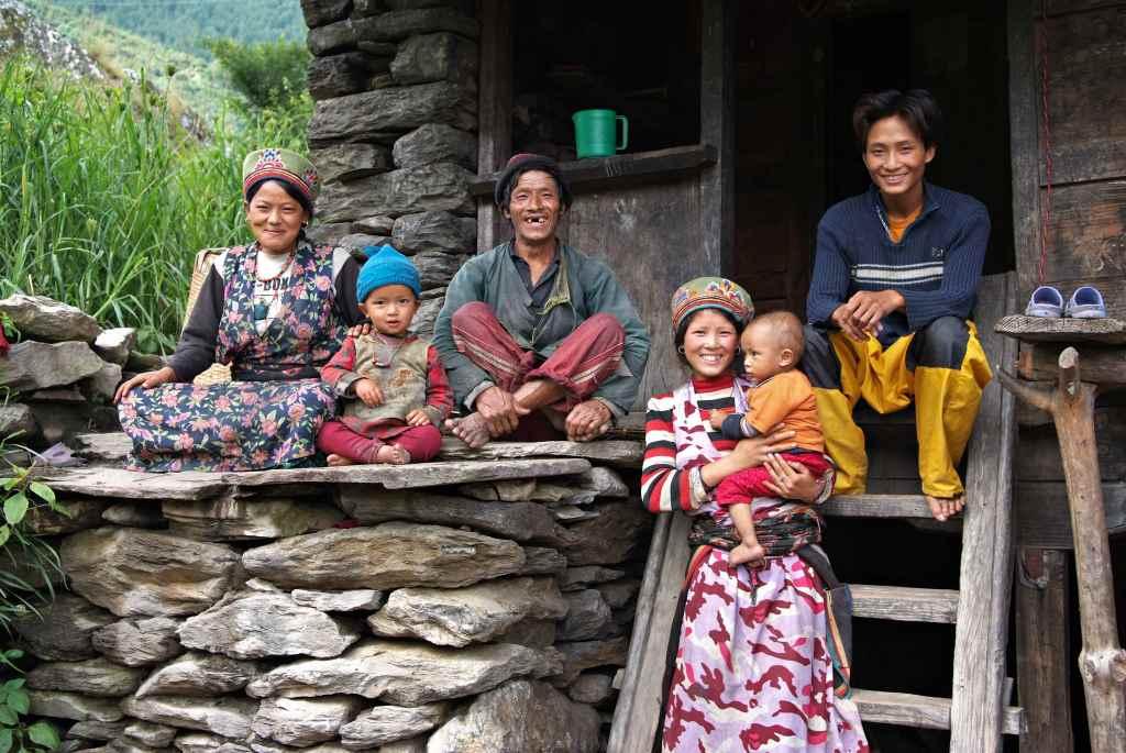 Семья в Непале
