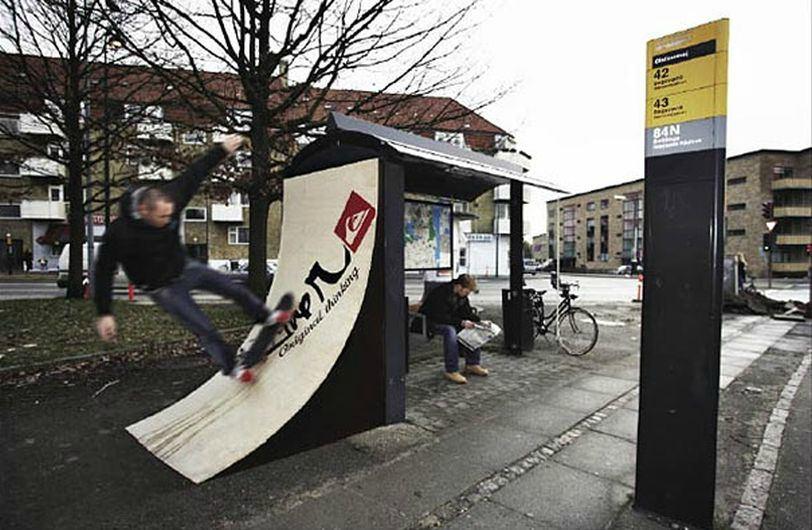 Остановка с рампой в Дании