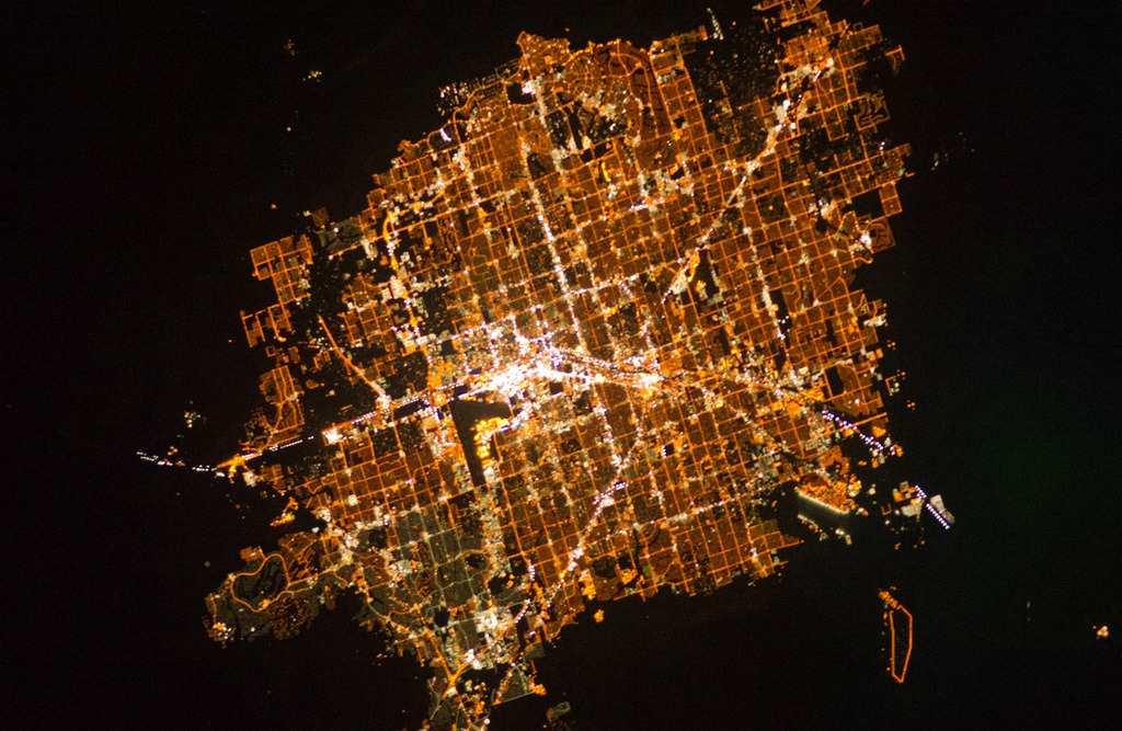 Ночной Лас-Вегас из космоса