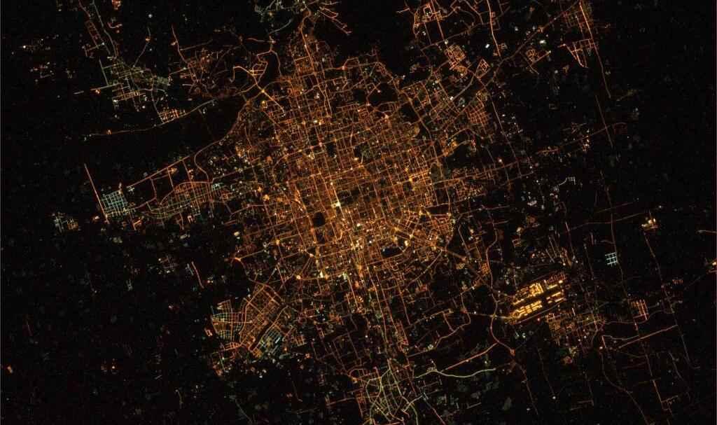 Ночной Пекин из космоса