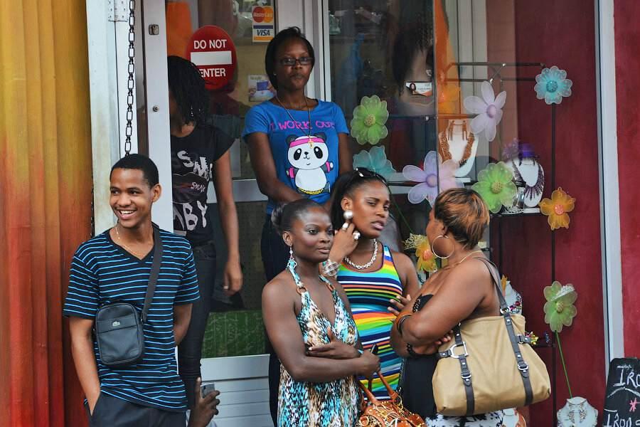 Жители острова Сент-Люссия