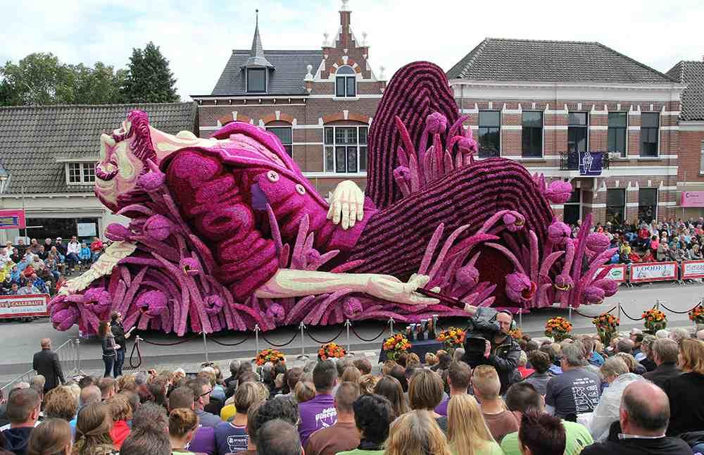 Фестиваль цветов в Нидерландах