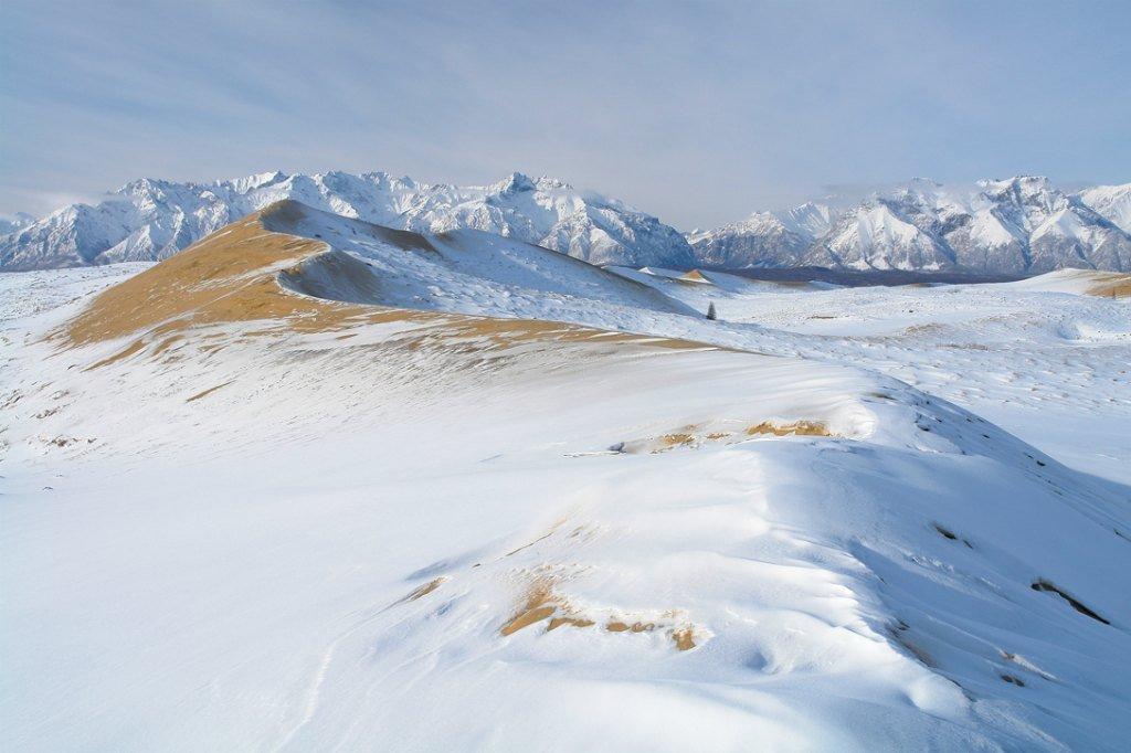 Чарские пески под снегом