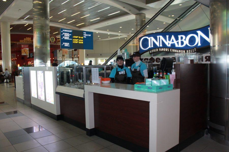 Cinnabon в аэропорту Домодедово