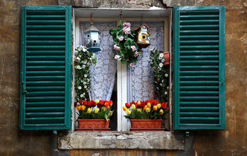 Ставни в домах Венеции