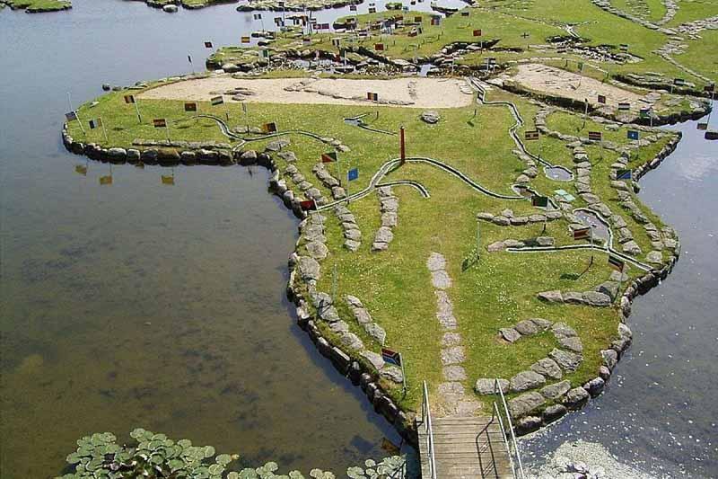 карту мира в миниатюре Датское озеро Клейтруп