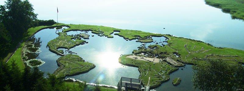 Где находится мини-карта мира в Дании