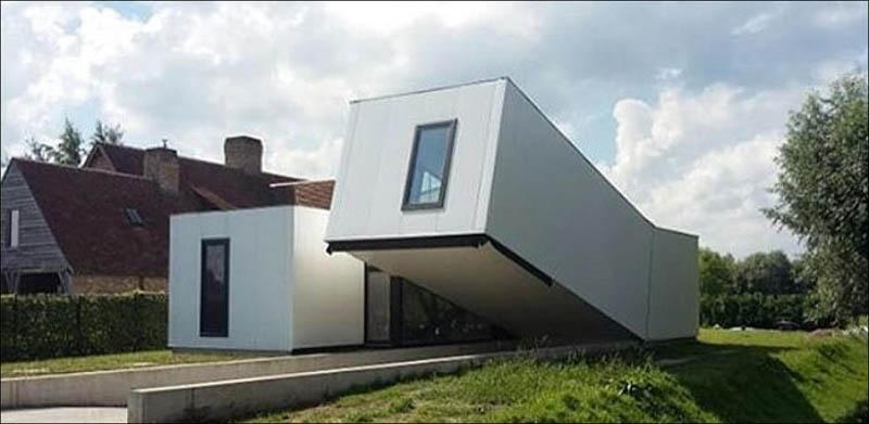 Странно выглядящие жилые дома в Бельгии