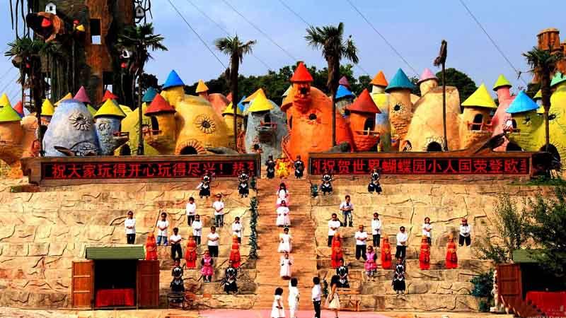 деревня рядом с городом Куньмин в китайской провинции Юньнань