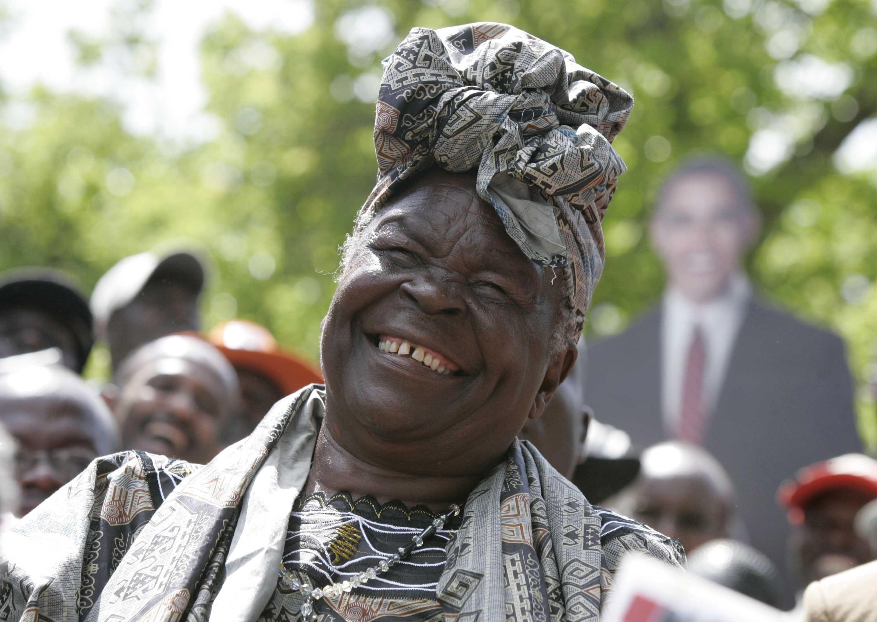 счастливая африканка