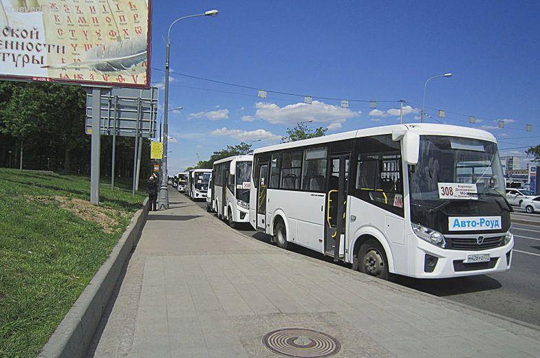Автобус 308 в Москве