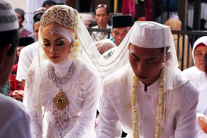 Типичная брачная церемония острова Ява