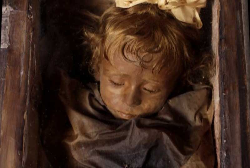 Правда ли малышка подмигивает туристам Розалии Ломбардо