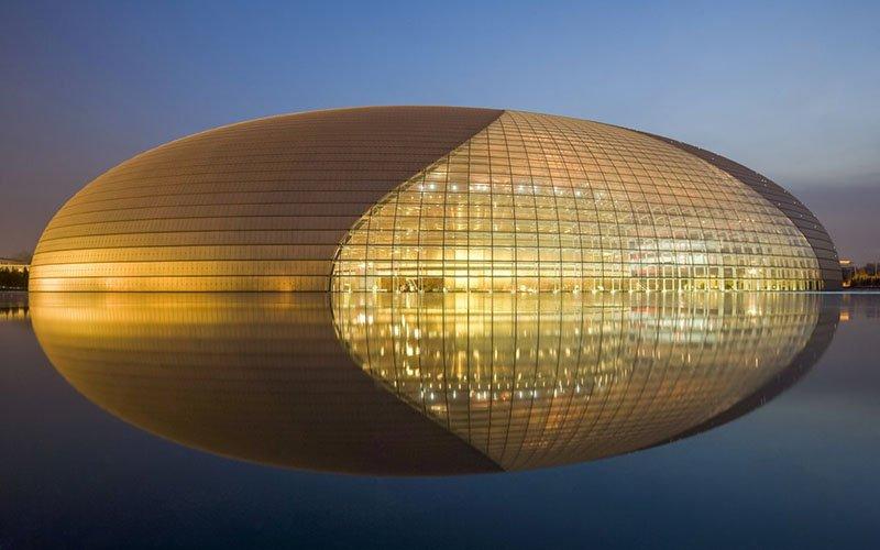 Здания в форме яйца в мире