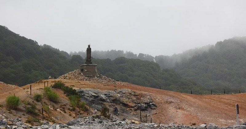 Название горы Осорезан переводится как «Камень Страха».