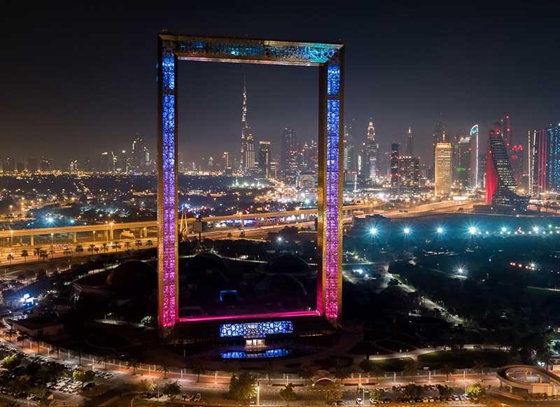 Dubai Frame Туристы, которые боятся высоты, не могут даже сделать шаг на эту поверхность