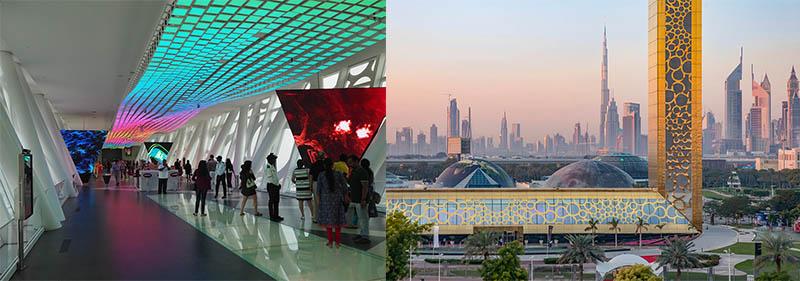 Dubai Frame Гигантская золотая рамка в Дубае