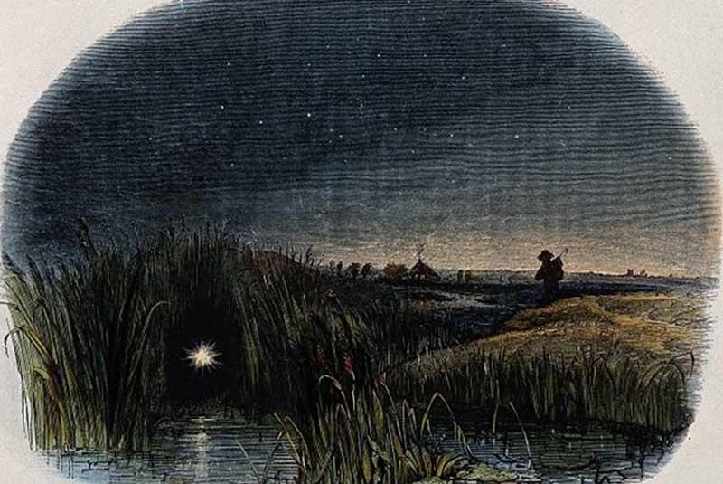 огни на болотах были и в древние времена