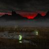 Блуждающие огоньки на болотах в Сибири