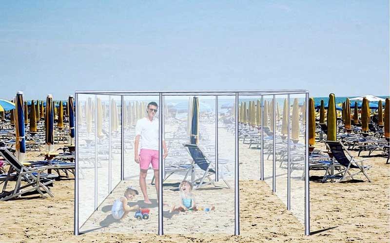 Прозрачные кубы на пляжах в Италии