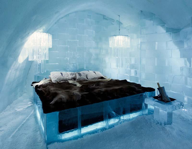Что представляет из себя ледяной отель в Швеции