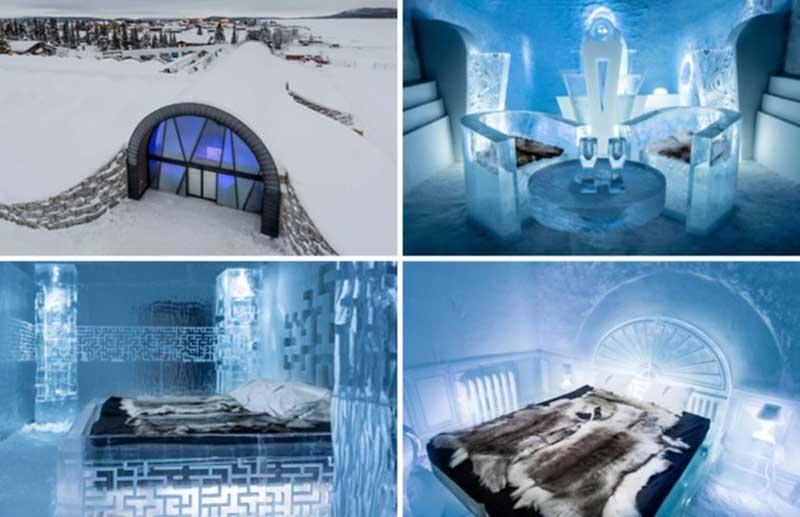 Довольно много мастеров разных профессий приезжают в Юккасъярви и перевоплощают сугробы снега и глыбы льда в произведение искусства.