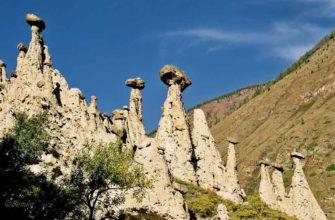 Каменные грибы на реке Чулышман