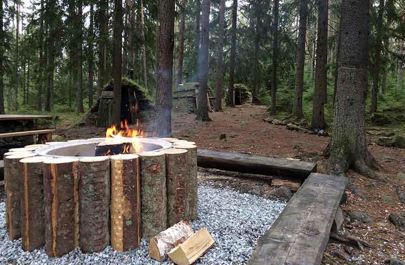 Полное расслабление в лесу