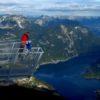 Опасная смотровая площадка в Альпах «Пять пальцев»