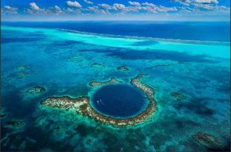 Пещера под водой, которая снаружи выглядит как дыра в океане