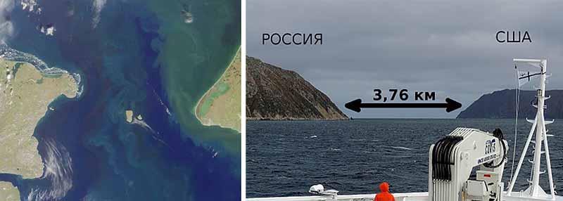 острова — Ратманова и Крузенштерна.